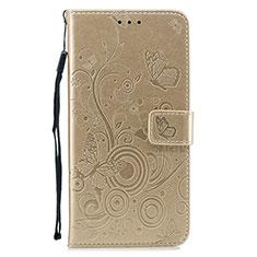 Coque Portefeuille Livre Cuir Etui Clapet L05 pour Huawei P30 Or