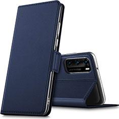 Coque Portefeuille Livre Cuir Etui Clapet L05 pour Huawei P40 Bleu