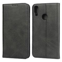 Coque Portefeuille Livre Cuir Etui Clapet L05 pour Huawei Y7 (2019) Noir