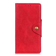 Coque Portefeuille Livre Cuir Etui Clapet L05 pour Motorola Moto G8 Power Lite Rouge