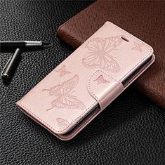 Coque Portefeuille Livre Cuir Etui Clapet L05 pour Nokia 1.3 Or Rose
