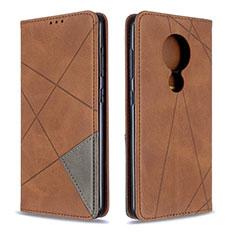 Coque Portefeuille Livre Cuir Etui Clapet L05 pour Nokia 7.2 Marron