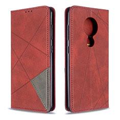 Coque Portefeuille Livre Cuir Etui Clapet L05 pour Nokia 7.2 Rouge