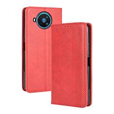 Coque Portefeuille Livre Cuir Etui Clapet L05 pour Nokia 8.3 5G Rouge