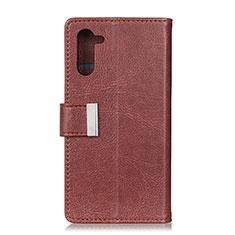 Coque Portefeuille Livre Cuir Etui Clapet L05 pour OnePlus Nord Marron