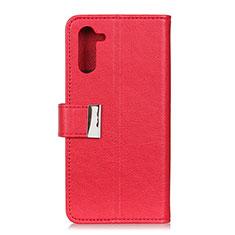 Coque Portefeuille Livre Cuir Etui Clapet L05 pour OnePlus Nord Rouge