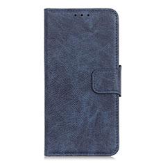 Coque Portefeuille Livre Cuir Etui Clapet L05 pour Oppo A15 Bleu