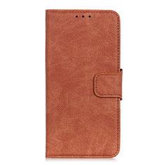 Coque Portefeuille Livre Cuir Etui Clapet L05 pour Oppo A15 Marron