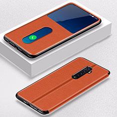 Coque Portefeuille Livre Cuir Etui Clapet L05 pour Oppo Reno2 Orange