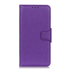 Coque Portefeuille Livre Cuir Etui Clapet L05 pour Oppo Reno3 A Violet