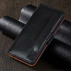 Coque Portefeuille Livre Cuir Etui Clapet L05 pour Oppo Reno4 Z 5G Noir