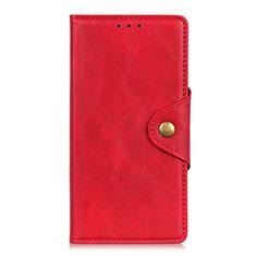 Coque Portefeuille Livre Cuir Etui Clapet L05 pour Realme 6 Pro Rouge