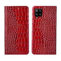 Coque Portefeuille Livre Cuir Etui Clapet L05 pour Samsung Galaxy A42 5G Rouge