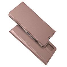 Coque Portefeuille Livre Cuir Etui Clapet L05 pour Samsung Galaxy A51 4G Or Rose