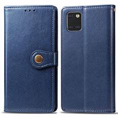 Coque Portefeuille Livre Cuir Etui Clapet L05 pour Samsung Galaxy A81 Bleu