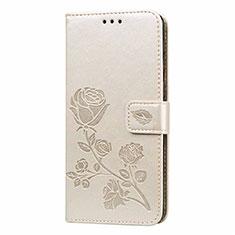 Coque Portefeuille Livre Cuir Etui Clapet L05 pour Samsung Galaxy M21s Or