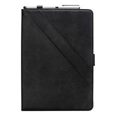 Coque Portefeuille Livre Cuir Etui Clapet L05 pour Samsung Galaxy Tab S6 Lite 4G 10.4 SM-P615 Noir