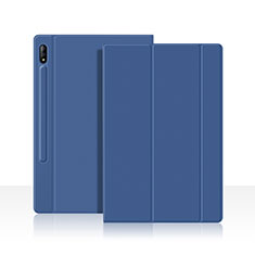 Coque Portefeuille Livre Cuir Etui Clapet L05 pour Samsung Galaxy Tab S7 11 Wi-Fi SM-T870 Bleu