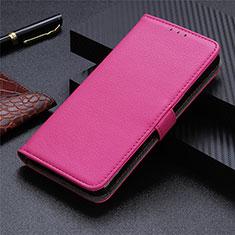 Coque Portefeuille Livre Cuir Etui Clapet L05 pour Sharp AQUOS Sense4 Plus Rose Rouge