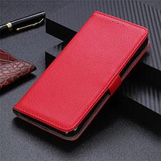 Coque Portefeuille Livre Cuir Etui Clapet L05 pour Sharp AQUOS Sense4 Plus Rouge