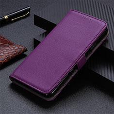 Coque Portefeuille Livre Cuir Etui Clapet L05 pour Sharp AQUOS Sense4 Plus Violet