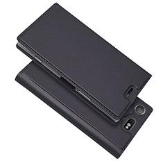 Coque Portefeuille Livre Cuir Etui Clapet L05 pour Sony Xperia XZ1 Compact Noir