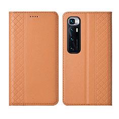 Coque Portefeuille Livre Cuir Etui Clapet L05 pour Xiaomi Mi 10 Ultra Orange