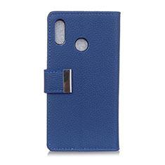 Coque Portefeuille Livre Cuir Etui Clapet L06 pour Asus Zenfone 5 ZS620KL Bleu