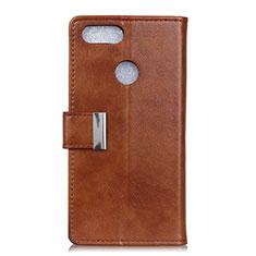 Coque Portefeuille Livre Cuir Etui Clapet L06 pour Asus Zenfone Max Plus M1 ZB570TL Marron