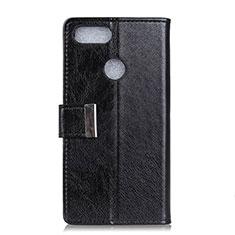Coque Portefeuille Livre Cuir Etui Clapet L06 pour Asus Zenfone Max Plus M1 ZB570TL Noir
