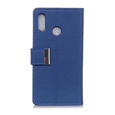 Coque Portefeuille Livre Cuir Etui Clapet L06 pour Asus Zenfone Max ZB555KL Bleu