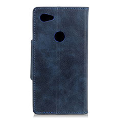 Coque Portefeuille Livre Cuir Etui Clapet L06 pour Google Pixel 3a XL Bleu