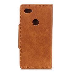 Coque Portefeuille Livre Cuir Etui Clapet L06 pour Google Pixel 3a XL Marron