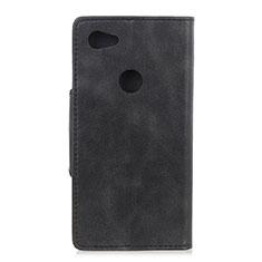 Coque Portefeuille Livre Cuir Etui Clapet L06 pour Google Pixel 3a XL Noir