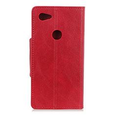 Coque Portefeuille Livre Cuir Etui Clapet L06 pour Google Pixel 3a XL Rouge
