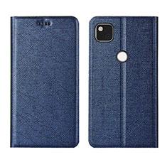 Coque Portefeuille Livre Cuir Etui Clapet L06 pour Google Pixel 4a Bleu