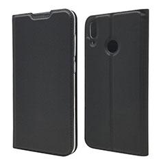 Coque Portefeuille Livre Cuir Etui Clapet L06 pour Huawei Enjoy 9 Noir