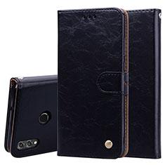 Coque Portefeuille Livre Cuir Etui Clapet L06 pour Huawei Honor V10 Lite Noir