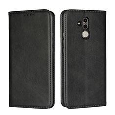 Coque Portefeuille Livre Cuir Etui Clapet L06 pour Huawei Mate 20 Lite Noir
