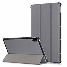 Coque Portefeuille Livre Cuir Etui Clapet L06 pour Huawei MatePad 10.4 Gris