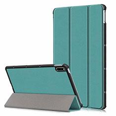 Coque Portefeuille Livre Cuir Etui Clapet L06 pour Huawei MatePad 10.4 Vert