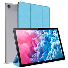 Coque Portefeuille Livre Cuir Etui Clapet L06 pour Huawei MatePad 10.8 Bleu Ciel
