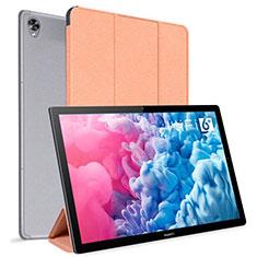 Coque Portefeuille Livre Cuir Etui Clapet L06 pour Huawei MatePad 10.8 Orange