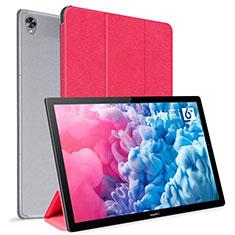 Coque Portefeuille Livre Cuir Etui Clapet L06 pour Huawei MatePad 10.8 Rouge