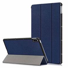 Coque Portefeuille Livre Cuir Etui Clapet L06 pour Huawei MatePad 5G 10.4 Bleu
