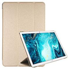 Coque Portefeuille Livre Cuir Etui Clapet L06 pour Huawei MediaPad M6 10.8 Or