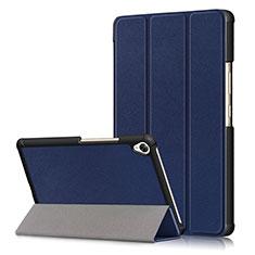 Coque Portefeuille Livre Cuir Etui Clapet L06 pour Huawei MediaPad M6 8.4 Bleu