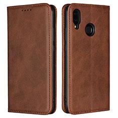 Coque Portefeuille Livre Cuir Etui Clapet L06 pour Huawei Nova 3e Marron