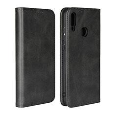 Coque Portefeuille Livre Cuir Etui Clapet L06 pour Huawei P Smart (2019) Noir
