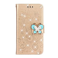 Coque Portefeuille Livre Cuir Etui Clapet L06 pour Huawei P30 Or